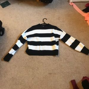 Crop striped sweater